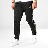 /achat-pantalons-joggings/kappa-pantalon-jogging-a-bandes-authentic-garcia-303sqg0-noir-dore-164657.html