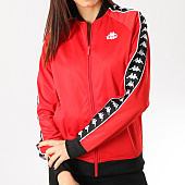 /achat-vestes/kappa-veste-zippee-a-bandes-femme-authentic-morecambe-303w7y0-rouge-164668.html