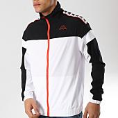 /achat-vestes/kappa-veste-zippee-a-bandes-303wa90-blanc-noir-164673.html