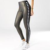 /achat-leggings/kappa-legging-femme-avec-bandes-atui-303wci0-noir-dore-164675.html