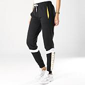 /achat-pantalons-joggings/kappa-pantalon-jogging-femme-banda-noir-dore-164702.html