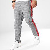 /achat-pantalons-carreaux/sixth-june-pantalon-a-carreaux-avec-bandes-m3554vpa-gris-rouge-164625.html