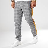 /achat-pantalons-carreaux/sixth-june-pantalon-a-carreaux-avec-bandes-m3554vpa-gris-jaune-164626.html