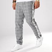 /achat-pantalons-carreaux/sixth-june-pantalon-a-carreaux-avec-bandes-m3554vpa-gris-blanc-164627.html