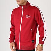 /achat-vestes/sixth-june-veste-zippee-avec-bandes-m3683cja-bordeaux-blanc-164633.html