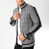 /achat-vestes/sixth-june-veste-zippee-carreaux-bandes-satinees-m3680cja-gris-blanc-noir-164645.html