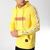 /achat-sweats-capuche/sixth-june-sweat-capuche-a-bandes-m3664vsw-jaune-164650.html
