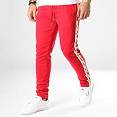 /achat-pantalons-joggings/sixth-june-pantalon-jogging-a-bandes-m3666cpa-rouge-164651.html