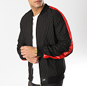 /achat-vestes/sixth-june-veste-zippee-a-bandes-m3661cja-noir-rouge-164694.html