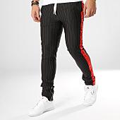 /achat-pantalons-joggings/sixth-june-pantalon-jogging-a-bandes-m3663cpa-noir-rouge-164695.html
