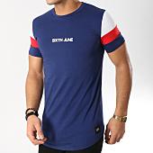 /achat-t-shirts/sixth-june-tee-shirt-m3652vts-bleu-marine-blanc-rouge-164699.html
