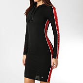 /achat-robes/sixth-june-robe-femme-manches-longues-avec-bandes-satinees-w3645kdr-noir-rouge-164711.html
