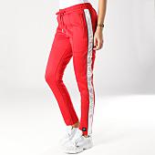 /achat-pantalons-joggings/sixth-june-pantalon-jogging-femme-avec-bandes-satinees-w3643cpa-rouge-blanc-164726.html