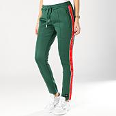 /achat-pantalons-joggings/sixth-june-pantalon-jogging-femme-avec-bandes-satinees-w3643cpa-vert-rouge-164727.html