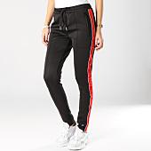 /achat-pantalons-joggings/sixth-june-pantalon-jogging-femme-avec-bandes-satinees-w3643cpa-noir-rouge-164728.html
