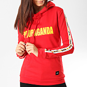 /achat-sweats-capuche/sixth-june-sweat-capuche-femme-avec-bandes-w3640csw-rouge-164732.html