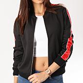 /achat-vestes/sixth-june-veste-zippee-femme-avec-bandes-satinees-w3644cja-noir-rouge-164733.html