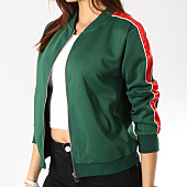 /achat-vestes/sixth-june-veste-zippee-femme-avec-bandes-satinees-w3644cja-vert-rouge-164734.html