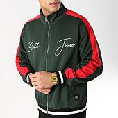 /achat-vestes/sixth-june-veste-zippee-a-bandes-m3669cja-vert-rouge-164740.html