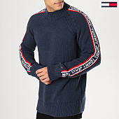 /achat-pulls/tommy-hilfiger-jeans-pull-avec-bandes-tape-5475-bleu-marine-164602.html