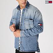 /achat-vestes-jean/tommy-hilfiger-jeans-veste-jean-oversize-denim-overshirt-5822-bleu-wash-164605.html