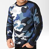 /achat-sweats-col-rond-crewneck/frilivin-sweat-crewneck-6037-camouflage-bleu-marine-164758.html