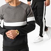 /achat-ensembles-survetement/frilivin-ensemble-de-survetement-avec-bandes-6031-a1528-noir-blanc-gris-chine-164781.html