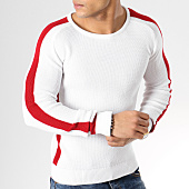 /achat-pulls/john-h-pull-a-bandes-jp-50-blanc-rouge-164817.html