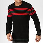 /achat-pulls/john-h-pull-a-bandes-jp-43-noir-rouge-vert-164820.html