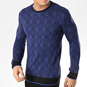 /achat-pulls/john-h-pull-a-carreaux-jh017-bleu-roi-blanc-164824.html