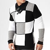 /achat-pulls/john-h-pull-a-carreaux-jh022-noir-blanc-gris-164826.html