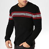/achat-pulls/john-h-pull-a-bandes-jp-52-noir-rouge-blanc-164831.html
