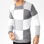 /achat-pulls/john-h-pull-a-carreaux-jh021-blanc-noir-chine-gris-chine-164834.html