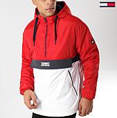/achat-vestes/tommy-hilfiger-jeans-veste-outdoor-color-block-popover-5429-rouge-blanc-164828.html