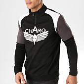 /achat-sweats-col-zippe/charo-sweat-col-zippe-beamer-noir-blanc-164849.html