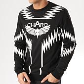 /achat-sweats-col-rond-crewneck/charo-sweat-crewneck-heatwave-noir-blanc-164852.html