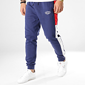 7177f9ee473 Charo - Pantalon Jogging Avec Bandes Division Bleu Marine Rouge Blanc