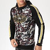 /achat-sweats-capuche/charo-sweat-capuche-a-bandes-hood-drift-wy4252-vert-kaki-camouflage-noir-dore-164906.html