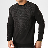 /achat-sweats-col-rond-crewneck/charo-sweat-crewneck-tribal-design-wy4263-noir-164913.html