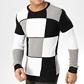 /achat-pulls/john-h-pull-a-carreaux-jh021-blanc-noir-gris-164886.html