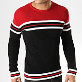 /achat-pulls/john-h-pull-a-bandes-jp-51-rouge-blanc-noir-164887.html
