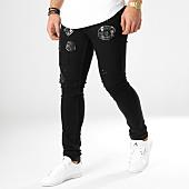/achat-jeans/john-h-jean-slim-patchs-brodes-75540-noir-164904.html