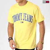 /achat-t-shirts/tommy-hilfiger-jeans-tee-shirt-collegiate-logo-5569-jaune-164891.html