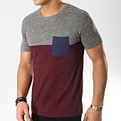 /achat-t-shirts-poche/esprit-tee-shirt-poche-019ee2k003-bordeaux-gris-chine-164995.html