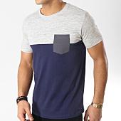 /achat-t-shirts-poche/esprit-tee-shirt-poche-019ee2k030-bleu-marine-gris-chine-164996.html