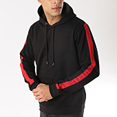 /achat-sweats-capuche/brave-soul-sweat-capuche-a-bandes-412majesticc-noir-rouge-165062.html