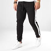 /achat-pantalons-joggings/brave-soul-pantalon-jogging-avec-bandes-majestice-noir-blanc-165078.html
