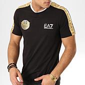 /achat-t-shirts/ea7-tee-shirt-avec-bandes-3gpt34-pjl2z-noir-dore-argente-165091.html
