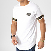 /achat-t-shirts-longs-oversize/gianni-kavanagh-tee-shirt-oversize-avec-bandes-gold-lurex-ribbon-blanc-dore-165056.html