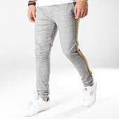 /achat-pantalons-carreaux/gianni-kavanagh-pantalon-a-carreaux-avec-bandes-tartan-gris-165061.html